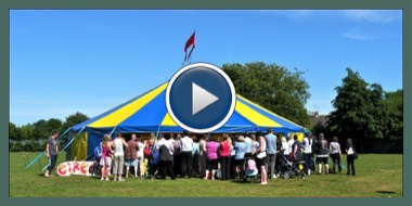 Video of a Circus Skills Day in a School with our Circus tent at a school in salford