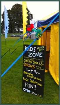 Big Top hire for schools, festivals and weddings all over the UK with Circus Sensible