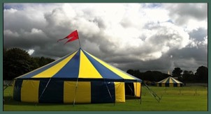 Two of our Big Tops for hire at a Music festival in Lancashire