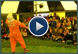 Circus shows and skills workshops in our big top
